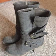 dirty riding boots 85 off dirty laundry shoes black boots with red laces 75 poshmark