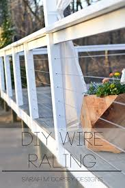 Railings And Banisters Ideas Best 25 Wire Deck Railing Ideas On Pinterest Deck Railings