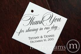 thank you tags thank you for in our day custom wedding favor tag