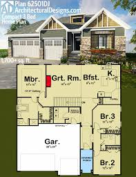 house plan architectural designs compact 3 bed house plan 62501dj