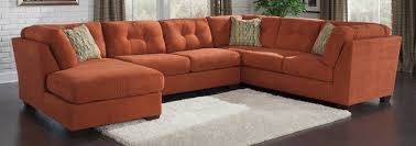 Ashley Furniture Leather Sectional With Chaise Buy Ashley Furniture 1970138 1970134 1970116 Delta City Rust Laf