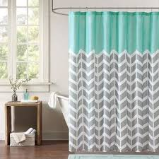 Aqua And Grey Curtains Best Grey Chevron Curtains Products On Wanelo