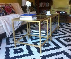 gold side table ikea coffee table coffee table ikea hacks vittsjo hack vittsjoikea