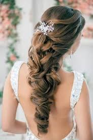 hair styles with rhinestones half up half down curly wedding hairstyles with silver plated