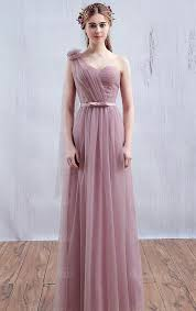 bridesmaid dress tulle dusty pink bridesmaid dress bnned0010 bridesmaid uk
