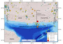 Map Of Pakistan And India by Indian Ocean Earthquake And Tsunami Hazard Potential Greater Than