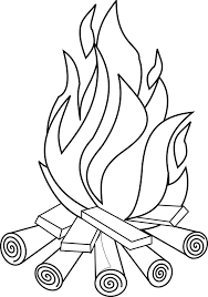 fire clipart black white clipartxtras