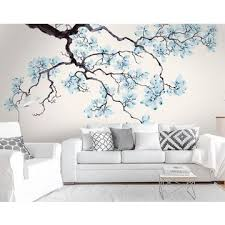 Design Own Bedroom China Gris Magnolia Floral Wallpaper Murals Watercolor