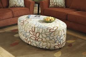 Large Storage Ottoman Living Room White Round Ottoman Coffee Table Upholstered Storage