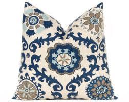 Navy Blue Decorative Pillows Indigo Blue Pillow Etsy