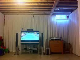 Cool Ideas For Basement Unfinished Basement Ideas With Cool And Cozy Appearance