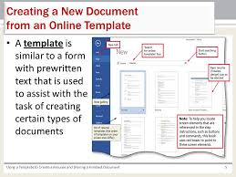 Create An Online Resume by Using A Template To Create A Resume And Sharing A Finished