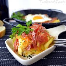 scrambled eggs with serrano ham recipe spanish food recipes