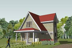 Efficient Small Home Plans Small Cottage Deisgn With Red Roofs And Grey Brick Wall Part Of