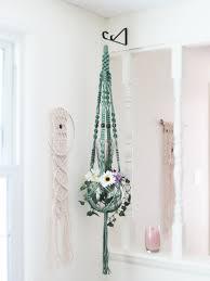 green macrame plant hanger 52