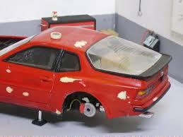 porsche 944 model kit diorama garage bodyshop porsche 944 turbo italeri kit model repair