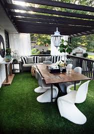 Outdoor Grass Rug Artificial Grass Is Always Greener On A Deck