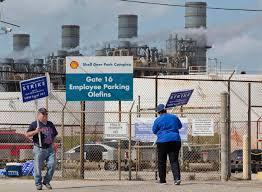 Refineries In Usa Map by Shell Refinery Strike In Houston Al Jazeera America