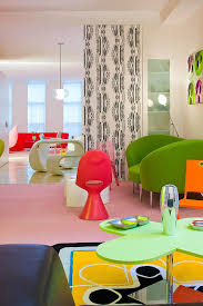 Colorful Interior Colorful Interior Design In Vivid New York Loft Art And Design