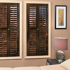 interior wood shutters home depot homebasics plantation walnut wood interior shutters price