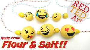 diy emoji from flour salt