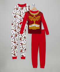 red power ranger costume for toddlers red u0026 white power rangers pajama set boys zulily