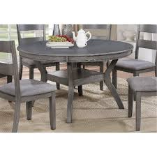 gray round dining table set modern gray round dining table warwick rc willey furniture store 0
