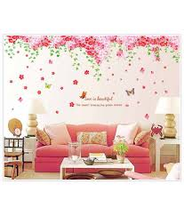 decorative flower oren empower pink decorative flower wall sticker 2 pc buy oren