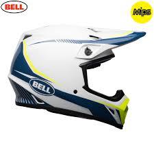 bell motocross helmets uk 2018 bell mx 9 mips helmet torch white blue yellow