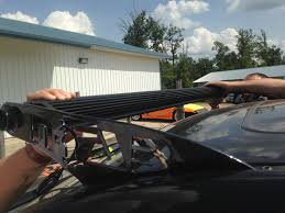 headache rack with light bar how to install an led light bar on the roof of my truck better