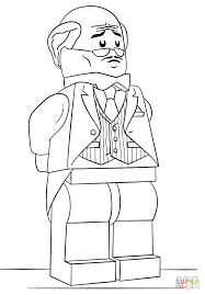 lego alfred pennyworth coloring page free printable coloring pages