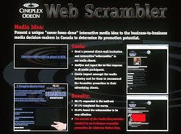 cineplex online online website contest web scrambler print ad