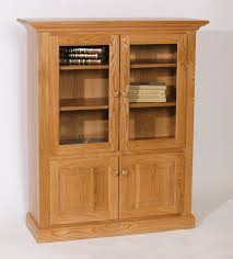 Oak Bookcases With Doors by Furniture Modular Bookcase With Frozen Glass Doors With Ikea