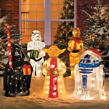 wars christmas decorations tinsel christmas wars characters with gift improvements catalog