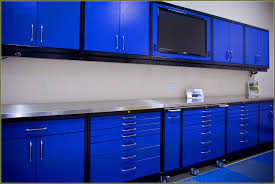 design wondrous astrea menards garage cabinets with awesome style stunning dark blue menards garage cabinets adn granite countertop plus granite floor