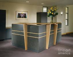 Building A Reception Desk Office Building Reception Desk Photograph By Robert Pisano