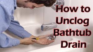 bathroom awesome unclogging tub drains 107 cool bathtub