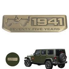 jeep cherokee sticker vintage bronze 1941 seventy five years anniversary emblem badge