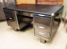 reclaimed wood steel desk tanker desk desks and google search