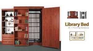 library bed bc 2 sliding diy hardware kit lift u0026 stor beds