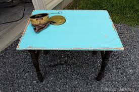 Turquoise Side Table Turquoise Grain Sack Inspired Table And A Fun Side Table Petticoat