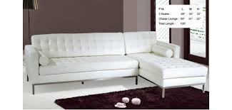 Contemporary Sectional Sofa With Chaise F14 White Full Italian Leather Contemporary Sectional Sofa With Chase