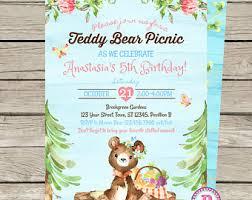 teddy bear tea party etsy