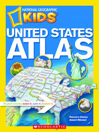 Geographical Map Of The United States by United States Atlas By National Geographic Scholastic