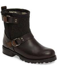 ugg noira buckle calf boots lyst ugg noira engineer boots in black