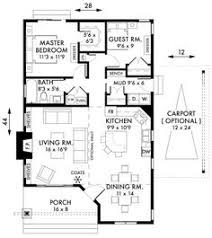 Kitchen And Living Room Floor Plans Long Narrow House With Possible Open Floor Plan For The Home