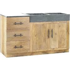 meuble cuisine evier integre meuble cuisine bois et zinc meuble sous