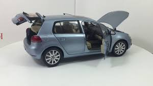vw volkswagen paudi model vw volkswagen golf a6 2012 blue 1 18 scale diecast