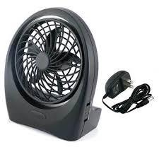 Quiet Desk Fan Battery Operated Desk Fan With Ac Adapter Dc Batteries