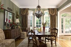 dining room bay window curtains